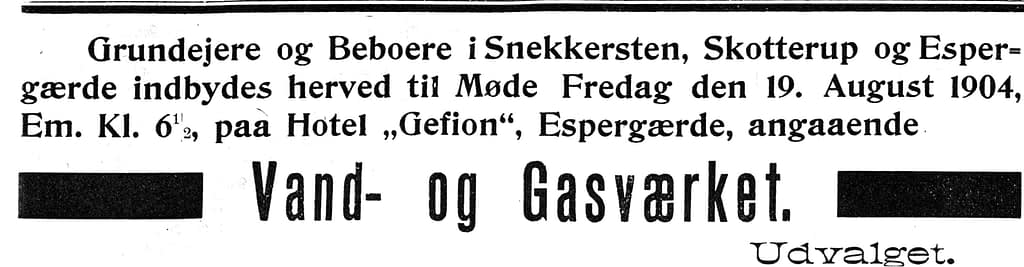 Annonce fra 1904